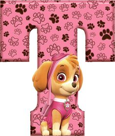 *✿**✿*T*✿**✿*DE ALFABETO DECORATIVO Sky Paw Patrol, Paw Patrol Party, Paw Patrol Birthday Girl, Dog Birthday, Cumple Paw Patrol, Alphabet For Kids, Scrapbook, Ideas, Cake