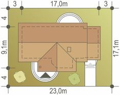 DOM.PL™ - Projekt domu ARC Skowronek z garażem CE - DOM AR1-11 - gotowy koszt budowy House Construction Plan, Floor Plans, Diagram, How To Plan, Nice Houses, Floor Plan Drawing, House Floor Plans