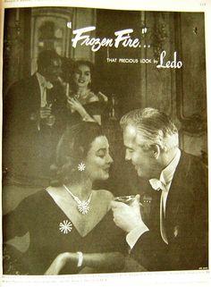 1952 Ledo jewelry ad 'Frozen Fire...'