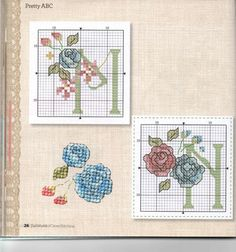 ru / Фото - The world of cross stitching 218 - tymannost Cross Stitch Letters, Cross Stitch Cards, Cross Stitch Rose, Cross Stitch Baby, Cross Stitch Flowers, Cross Stitching, Bead Loom Patterns, Stitch Patterns, Plastic Canvas Letters