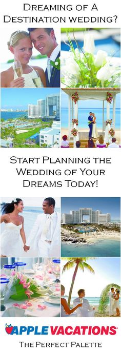 Dreaming of a destination wedding? Start planning yours today! http://www.theperfectpalette.com/2013/01/sponsored-post-apple-vacations.html