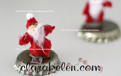 Manualidades de Navidad_Papá Noel hehco con reciclaje