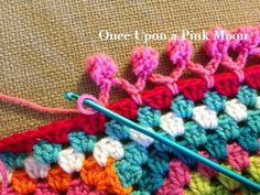 Once Upon A Pink Moon: Pom Pom Edge would be adorable edging on a knit blanket even!