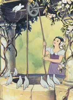 Snow White and the Seven Dwarfs - /rebeccapleins/whistle-while-you-work/ BACK BACK GET this print & Song! Film Disney, Arte Disney, Disney Magic, Disney Art, Disney And Dreamworks, Disney Pixar, Disney Characters, Disney Princesses, Disney Animation