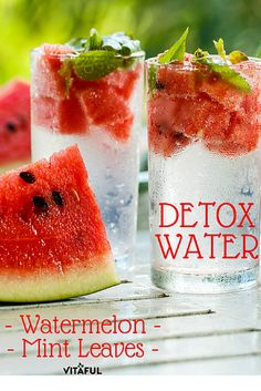 10 Delicious Detox Water Recipes Your Body Will Love – Healthy To Fit Infused Water Recipes, Fruit Infused Water, Fruit Water, Healthy Detox, Healthy Drinks, Healthy Water, Diet Detox, Watermelon Detox Water, Watermelon Mint