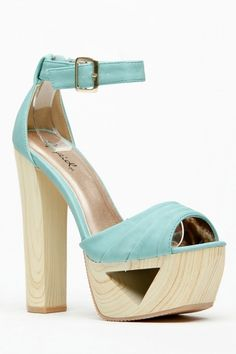 Cutout Pleated Wooden Heels