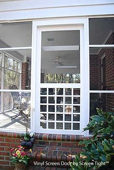 Victoria White Vinyl Screen Door   Screen Tight And Products