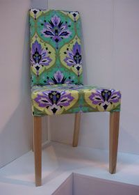 Dining chair cover  Jazz up your dining chairs with our free sewing pattern, and make removable covers that are practical and pretty.