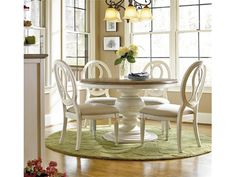 Universal Furniture | Two Tone Round Pedestal Dining Table