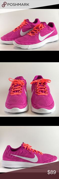 Nike Racing Lunaracer 4 Rare Pink Size 14 NWOT Nike Racing Road Lunaracer 4 with Lunarlon soles in hard to find Fucsia Pink and Neon Orange laces. Men's size 14. New without tags... I will consider a descent offer Nike Shoes Sneakers
