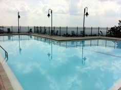The view from Cheaha State Park in Delta Alabama.  The highest point in Alabama.  Amazing pool area.