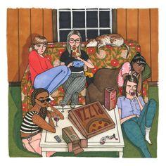 Sally Nixons gibt den Frauen in ihren Illustrationen Raum, so zu sein, wie sie sind.