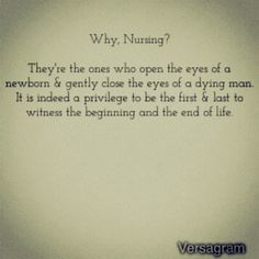 Why nursing?
