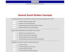 General Social Studies Concepts Interactive for - Grade Social Studies Worksheets, Multiple Choice, Teaching Resources, Study, Teacher, Concept, This Or That Questions, Studio, Professor