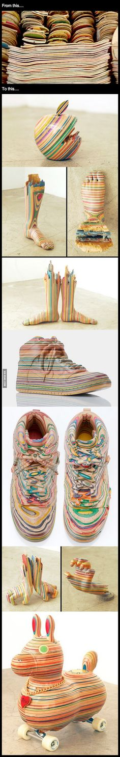 What to do with old skateboard decks...