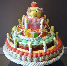 Gateau d'anniversaire en bonbons