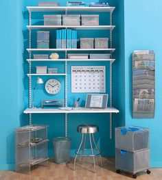 Shelving unit can be customized to work as a work/computer area