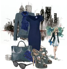 """""""City blues"""" by hedel on Polyvore"""