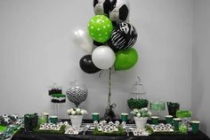 #Soccer #Party Dessert Table #Candy