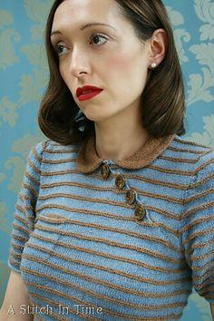 Tea Garden Dress pattern by Susan Crawford Ravelry: Tea Garden Dress pattern by Susan Crawford Mod Fashion, Crochet Fashion, Vintage Fashion, Dress Patterns Uk, Vintage Patterns, Garden Dress, Purl Stitch, Dress Tutorials, Tea Length Dresses