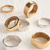 Yellow Gold Bespoke Fingerprint Ring - in first place