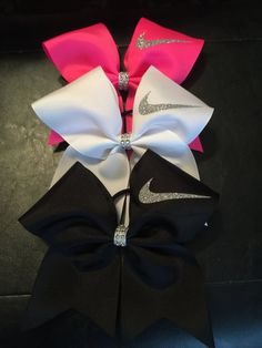 Hey, I found this really awesome Etsy listing at https://www.etsy.com/listing/235183715/nike-swoosh-cheer-bow-many-colorsred