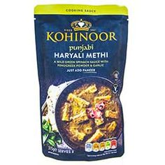 Buy Punjabi Haryali Methi Curry Sauce online from Spices of India - The UK's leading Indian Grocer. Free delivery on Punjabi Haryali Methi Curry Sauce - Kohinoor (conditions apply). Coriander Powder, Diced Chicken, Green Chilli, Curry Sauce, Mixed Vegetables, Garam Masala, Naan, Turmeric