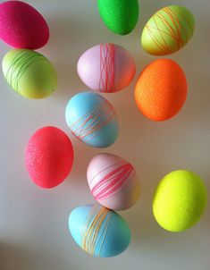 DIY Thread Wrapped Eggs