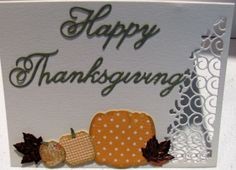 Thanksgiving card created in class with Jenny Griffiths who is a design team member for Memory Box and Poppystamps.