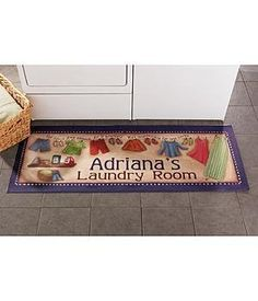 Personalized Let The Spoiling Begin Doormats Personalized Laundry Room