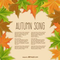 Autumn song template vector | Free vector | Design
