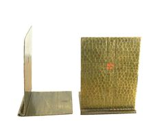 Early Roycroft Bookends Hand Hammered Home Library by Nachokitty