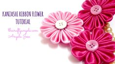 Kanzashi ribbon flower tutorial  (5)