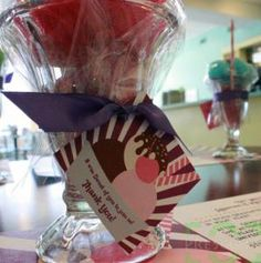 "FREEBIE: Ice Cream Sundae Favor Favor Tag - great for any ""Sweet"" Event or Ice Cream Social Party"