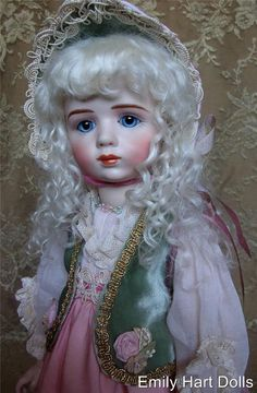 A. Marque Rare French Antique reproduction Porcelain doll by Emily Hart Grandmaster Dollmaker by emilyhartdolls on Etsy https://www.etsy.com/listing/190774629/a-marque-rare-french-antique