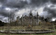 Château de Noisy -- Celles, Belgium. A derelict castle from 1866 and a real life spooky house! Despite its appealing mysteriousness it's kind of sad that such a magnificent building has been left abandoned and unkept.