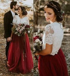 Belle Wine Dress Tulle Set Lace Crop Top with Sleeves and Tulle skirt long, Lace Crop Top, Bridesmaids Dress, Tulle Dark Red Burgundy Skirt A Line Prom Dresses, Tulle Prom Dress, Cheap Prom Dresses, Tulle Lace, Tulle Skirts, Prom Gowns, Dress Lace, Evening Dresses, Short Dresses