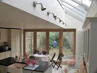 The London Kitchen Extension Co. - Photos from Recent Projects . Diy Kitchen Storage, Kitchen Decor, Kitchen Design, Kitchen Ideas, Home Renovation, Home Remodeling, Vaulted Ceiling Lighting, Ceiling Windows, Kitchen Cabinetry
