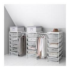 ALGOT structure/corbeilles filet/barre, blanc Larg. min.: 199 cm Largeur max.: 239 cm Profondeur: 60 cm