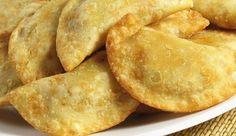 Empanadas are a staple in Mexico and you can get savory empanadas such as chicken or beef and sweet ones like pumpkin or apple. Empanadas can be. Authentic Mexican Recipes, Mexican Food Recipes, Fried Beef, Comida Latina, Latin Food, Mexican Dishes, Mexican Cheese, Italian Cheese, International Recipes