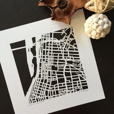 Karen O'Leary, Menphis hand-cut map