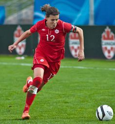 Christine Sinclair- ranked 3rd for top female scorer in international soccer. 140 goals in 188 games