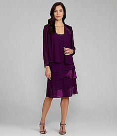 SL Fashions Beaded Jacket Dress #Dillards (love it without the jacket)