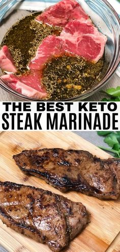 An easy keto steak marinade that has all the flavor you'll need! This recipe is made with balsamic vinegar, olive oil, and coco aminos.