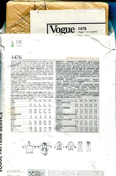 SEWING PATTERN - V1476 VOGUE 1476 ISSEY MIYAKE VOGUE INDIVIDUALIST DESIGNER…