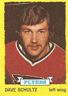 Dave 'The Hammer' Schultz and the Amazing Morphosis - Vintage Hockey Cards Report Flyers Hockey, Hockey Cards, Hockey Players, Baseball Cards, Historic Philadelphia, Philadelphia Sports, Tim Hortons, National Hockey League, Trading Card Database
