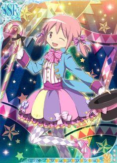 Madoka - Madoka Magica Silly Circus Outfits - Madoka Magica Mobage Cards