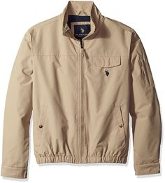 91df99152e7 U.S. Polo Assn. Men s Micro Peached Windbreaker Jacket with Fleece Lining  at Amazon Men s Clothing store