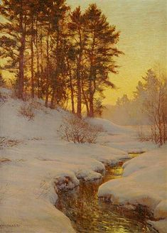 walter launt palmer paintings | Walter Launt Palmer American, 1854-1932 The Golden West