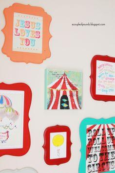 Love the circus inspired wall decor. #SocialCircus